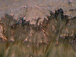 Tracce stagionali di acqua salata che scorre su Marte