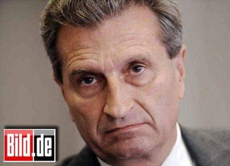 Oettinger (Ue): 'Italia ingovernabile come Bulgaria e Romania'. E' bufera