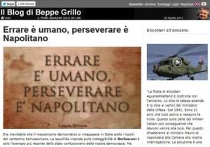 ++ Governo:Grillo,Napolitano la smetta,ci mandi a votare ++