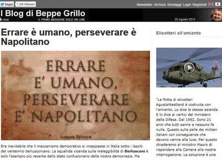 Grillo: Napolitano la smetta, si voti