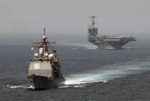 CRUISER AND CARRIER IN THE MED