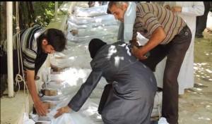 Una delle foto choc diffuse dai ribelli